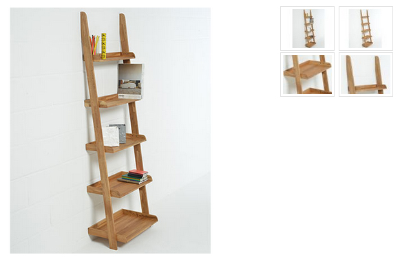 oak ladder shelf