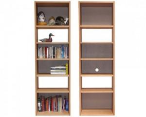oak veneer infinity shelf