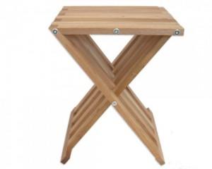 wallnut folding stool