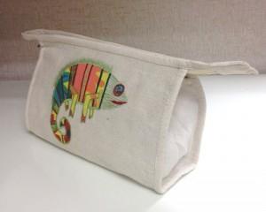 cosmetic bag chameleon
