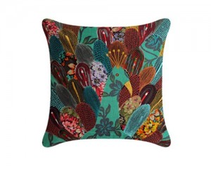 peacock cushion cover