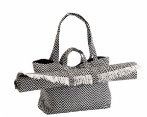 Outdoor-bag-with-mat-BLk-WHT