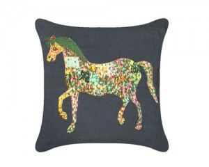 Futon Company New cushion collection hand embroidered in India - filly