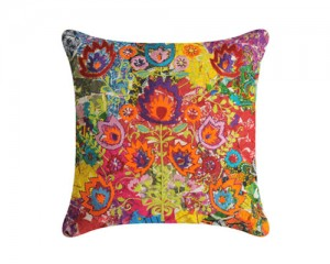 Futon Company New cushion collection hand embroidered in India - flower power