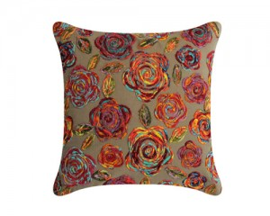 Futon Company New cushion collection hand embroidered in India - swirl flower