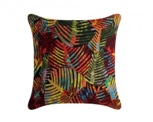 Futon Company New cushion collection hand embroidered in India - Jurassic leaf
