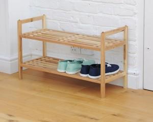 Futon Company walnut shoe rack