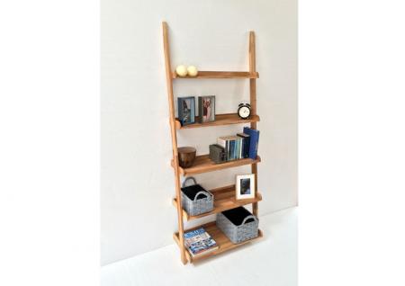 Futon Company wide oak ladder shelf