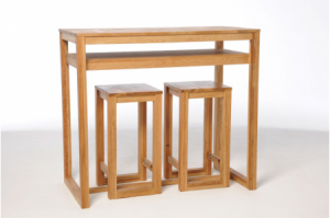 Oak-diner-with-stools