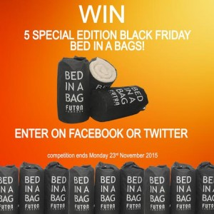 Futon Company Black Friday Competition to win a Bed in a Bag
