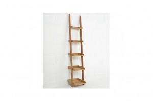 narrow-oak-ladder-shelf
