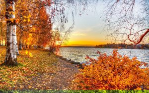 Autumn-Lake-Sunset-Wallpaper