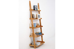 Oak-75-cm-ladder-shelf-dressed-for-home-office-on-angle