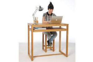 Oak-diner-as-desk-with-model