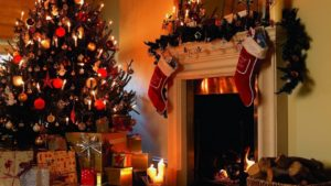 Christmas Tree and Fireplace wallpaper4