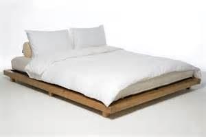 Platform kingsize bed elm stain