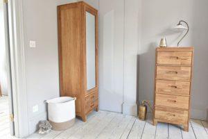 Oak Narrow Wardrobe